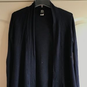 Bobeau open front cardigan sweater navy size S